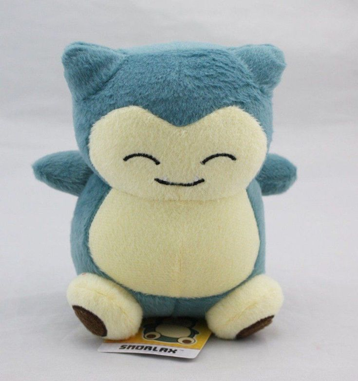 """POKEMON Snorlax Plush plushie Stuffed Doll Toy Figure Collectible 6"""" Gift New #Unbranded"""