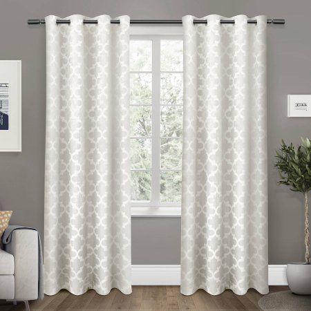 "Cartago Insulated Woven Blackout Grommet Top Window Curtain Panels, Vanilla, Set of 2, 54"" x 84"" - Walmart.com"