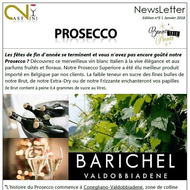 2Castvini Newsletter n°3 - janvîer 2018 : Prosecco
