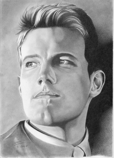 Ben Affleck by peggy {from France} ~ pencil portrait