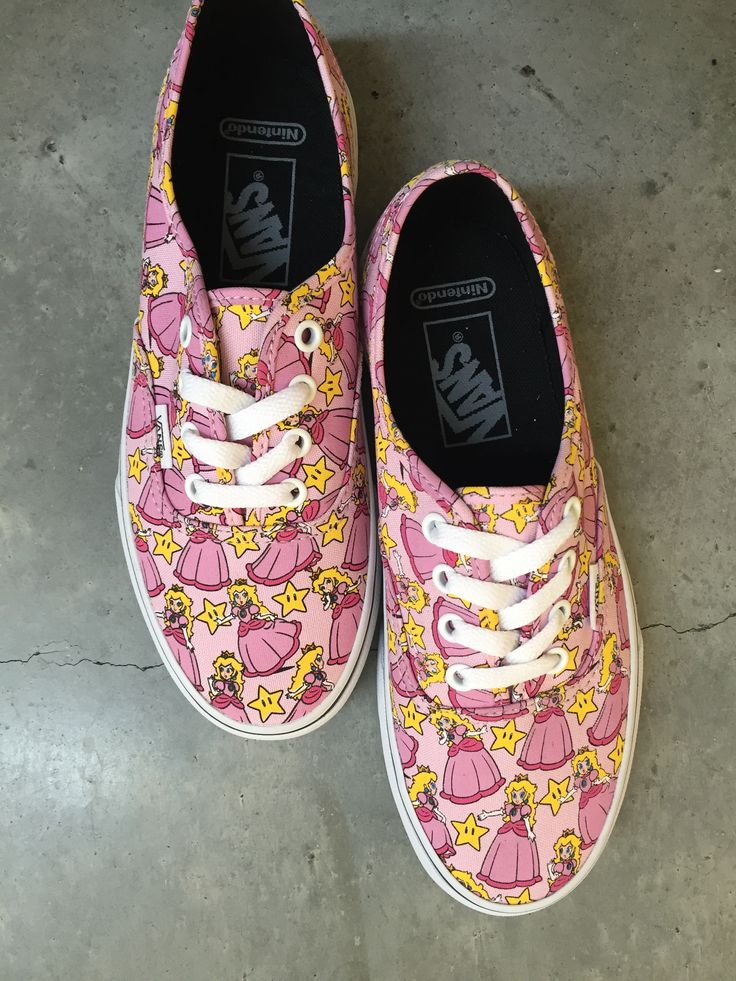 Vans x Nintendo Authentic Princess Peach Shoes. Omg I loved her when I was little. Gimme