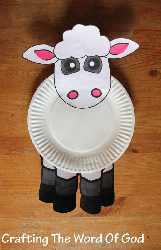 Passover paper plate sheep, Passover Paper goodsPassover Craft ideas