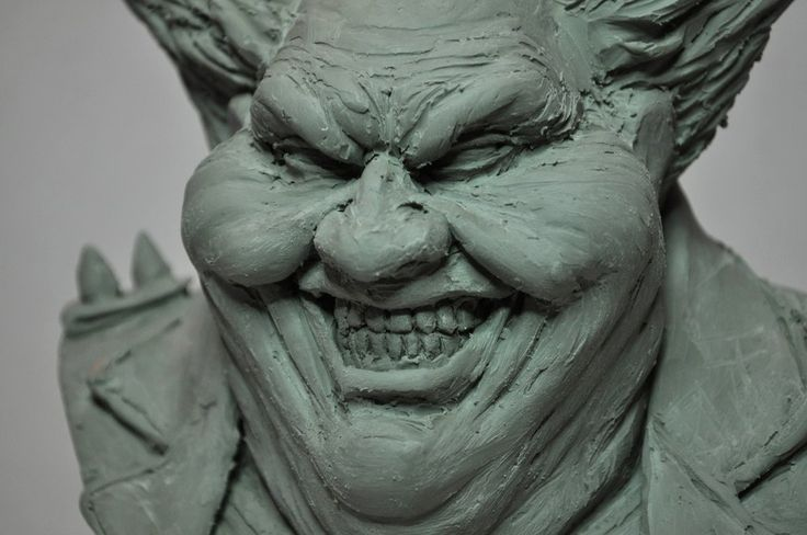 Spawn Clown Bust Chavant WIP Closeup by AntWatkins on DeviantArt