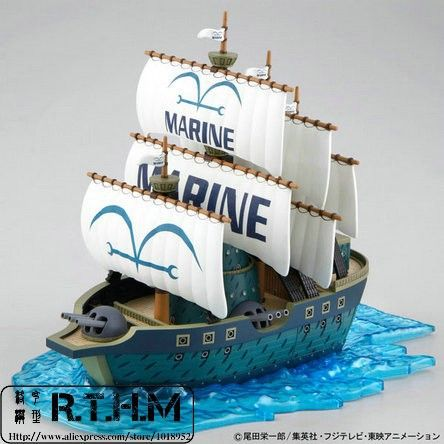 $38 Bandai ONE PIECE Grand Ship Collection Navy Plastic Model