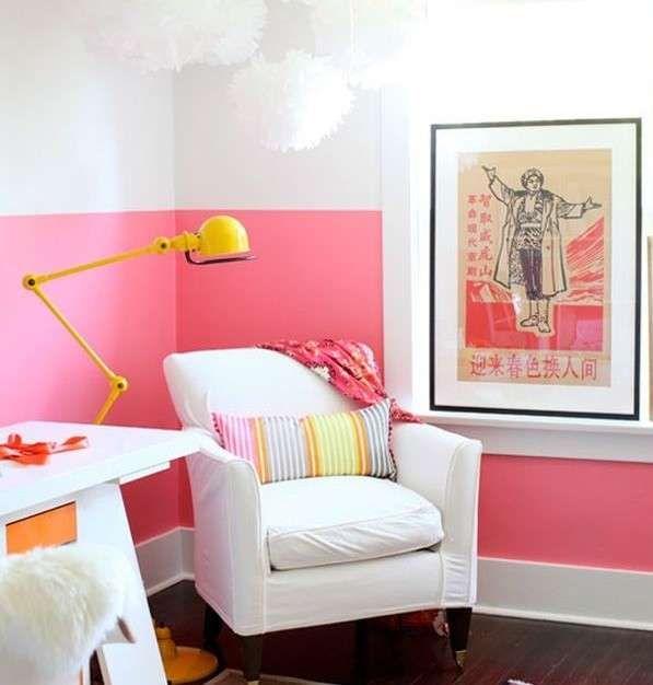 Le 25 migliori idee su pareti rosa su pinterest palette - Dipingere camera da letto due colori ...
