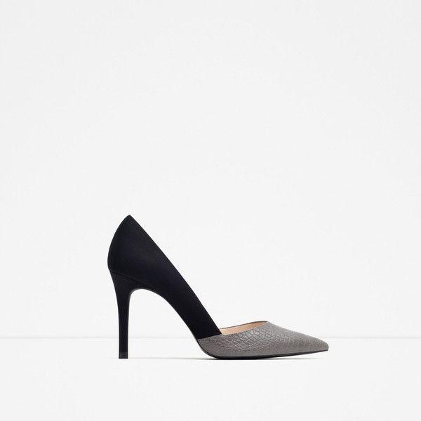 Zara Mid Heel Court Shoe ($70) ❤ liked on Polyvore featuring shoes, pumps, multicolour, multi color pumps, zara footwear, colorful pumps, zara pumps and multi color shoes