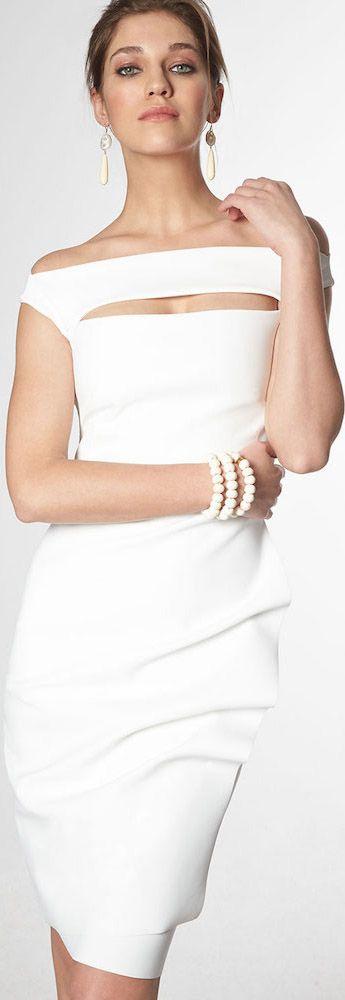 La Petite Robe Chiara Boni White Dress WHITE • HAUTE • CHIC