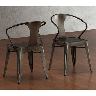 These stacking chairs feature a vintage and industrial look. Fully assembled, this set of four chairs are comnpleted with a scratch and mar resistant finish. http://www.overstock.com/Home-Garden/Vintage-Tabouret-Stacking-Chair-Set-of-4/6839588/product.html?CID=214117 $219.99
