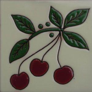 Decorative kitchen tile: rvl cherries