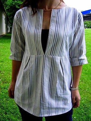 Nice Tunic - could possibly be made from a repurposed men's shirt?
