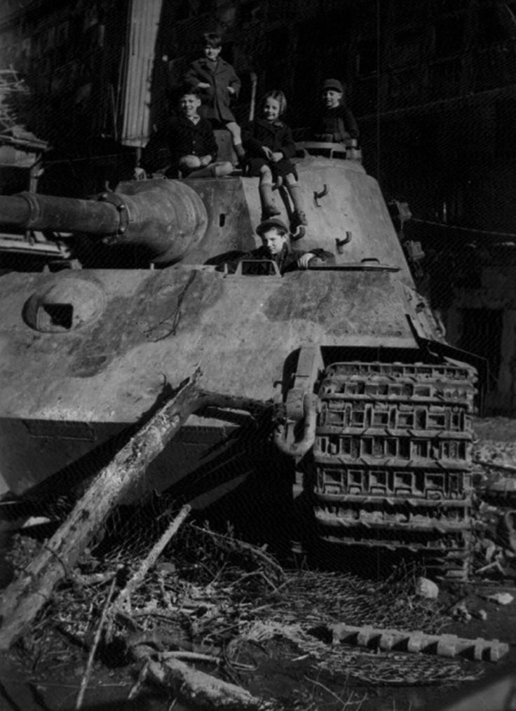 King Tiger '222′ in Stavelot, Belgium in early 1945. This tank belonged to the   schwere SS-Panzer-Abteilung 501  was part of Kampfgruppe Peiper   and was lost on 19 December 1944 during the Ardennes Offensive.