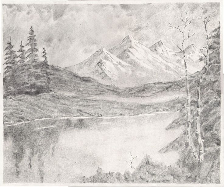 Beautiful Nature Pencil Drawings: Drawing Landscapes With Pencil - Bing Images