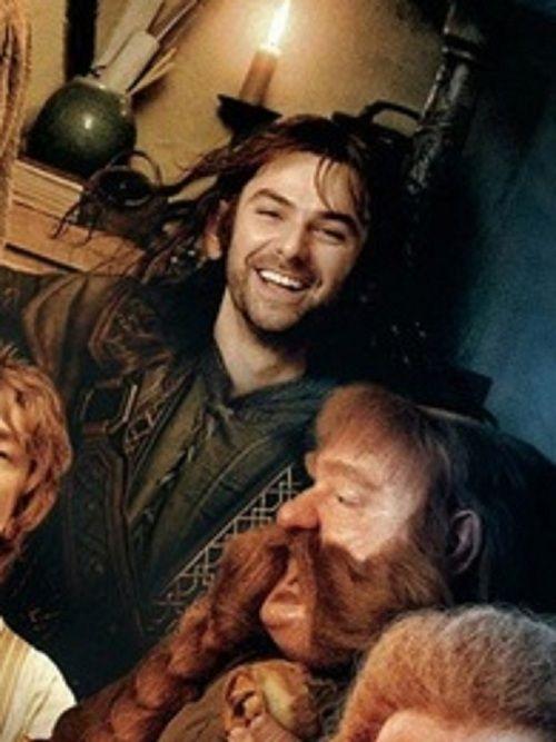Aidan Turner as Kili. Can't get enough Aidan turner! Or his smile ...gah!❤️