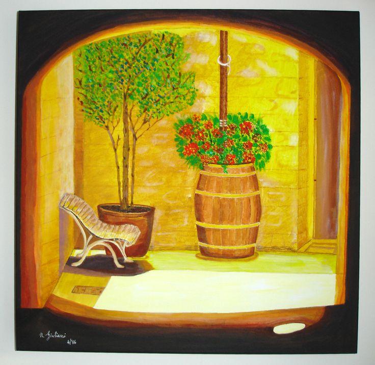 Acrilico su tela 50x50 Chianti, Toscana