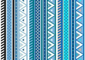Free Blue Aztec Geometric Seamless Vector Pattern - Download Free ...