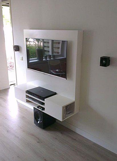 Floating Tv cabinet, DIY by Joost.  TV kast zelf maken: zwevend tv ...