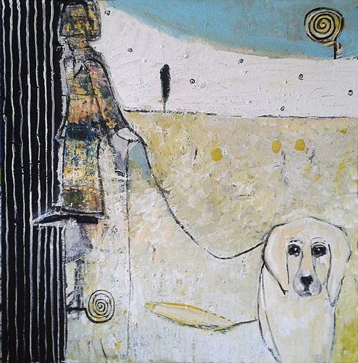 "Tomasz Kuran, ""Pejzaż z psem"", 2012"