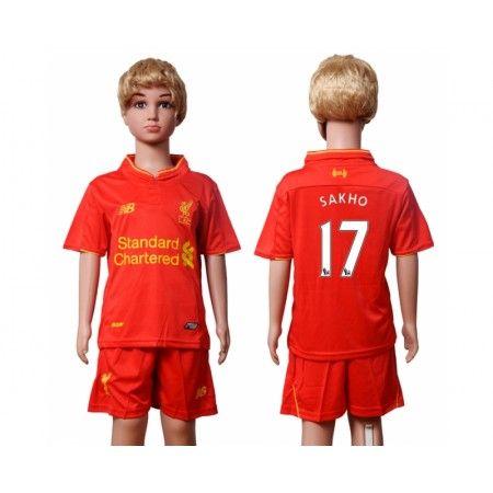 Liverpool Trøje Børn 16-17 #Sakho 17 Hjemmebanetrøje Kort ærmer.199,62KR.shirtshopservice@gmail.com