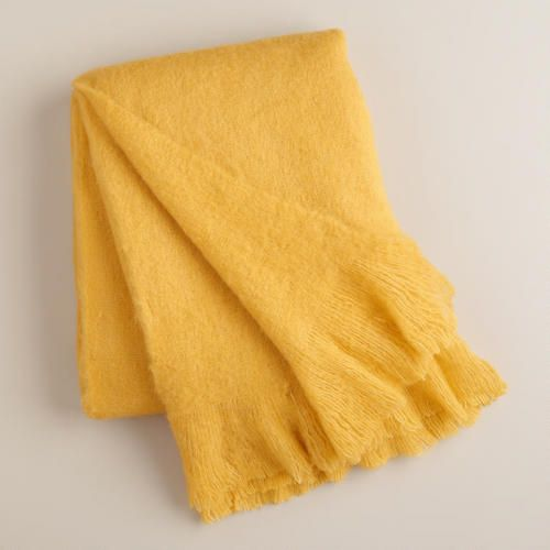 One of my favorite discoveries at WorldMarket.com: Yellow Faux Mohair Throw