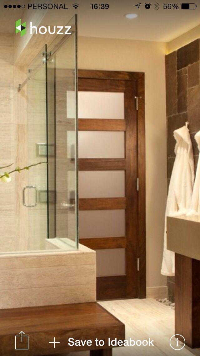 Puerta baño | Puertas de baños, Puertas, Casas