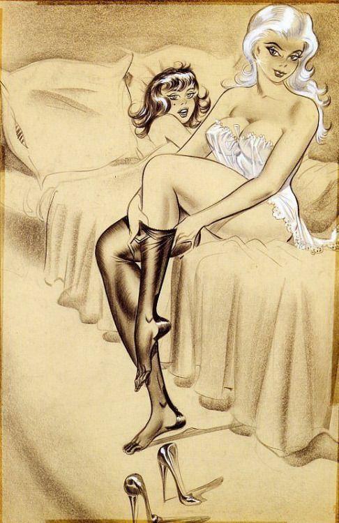 Something Lesbians girls erotic art drawings all