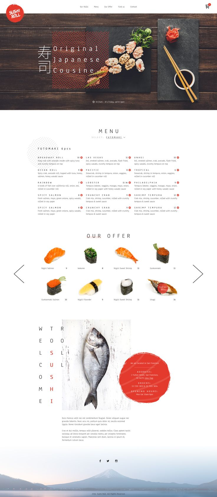 Sushi restaurant by Greg Dlubacz - Dribbble