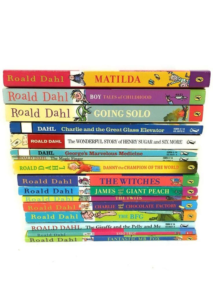 Lot 16 Roald Dahl Set Witches BFG Esio Trot Twits Matilda Charlie James Peach  | eBay