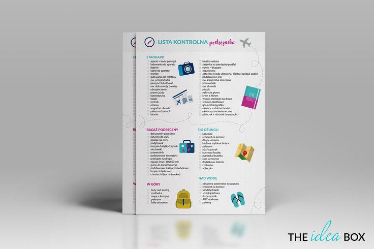 Nie wiecie, co zabrać ze sobą w podróż? Nasza checklista przyjdzie Wam z pomocą! Pobierajacie i bądźcie zorganizowani.