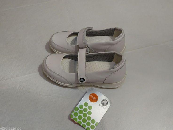 Crocs Saffron W4 Work shoes nursing standard fit white women's kids adult lock #Crocs #WorkSafety