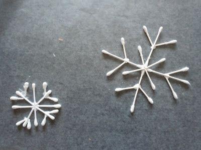 Q-tip Snowflakes | KIDDIE CRAFTS