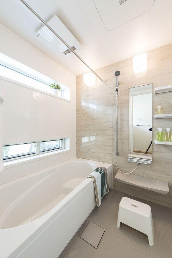 お風呂 洗面 モデルハウス ナチュラルハウスの写真集 埼玉県越谷市の工務店 自然素材の注文住宅 浴室 デザイン 浴室 おしゃれ 浴室 モダン