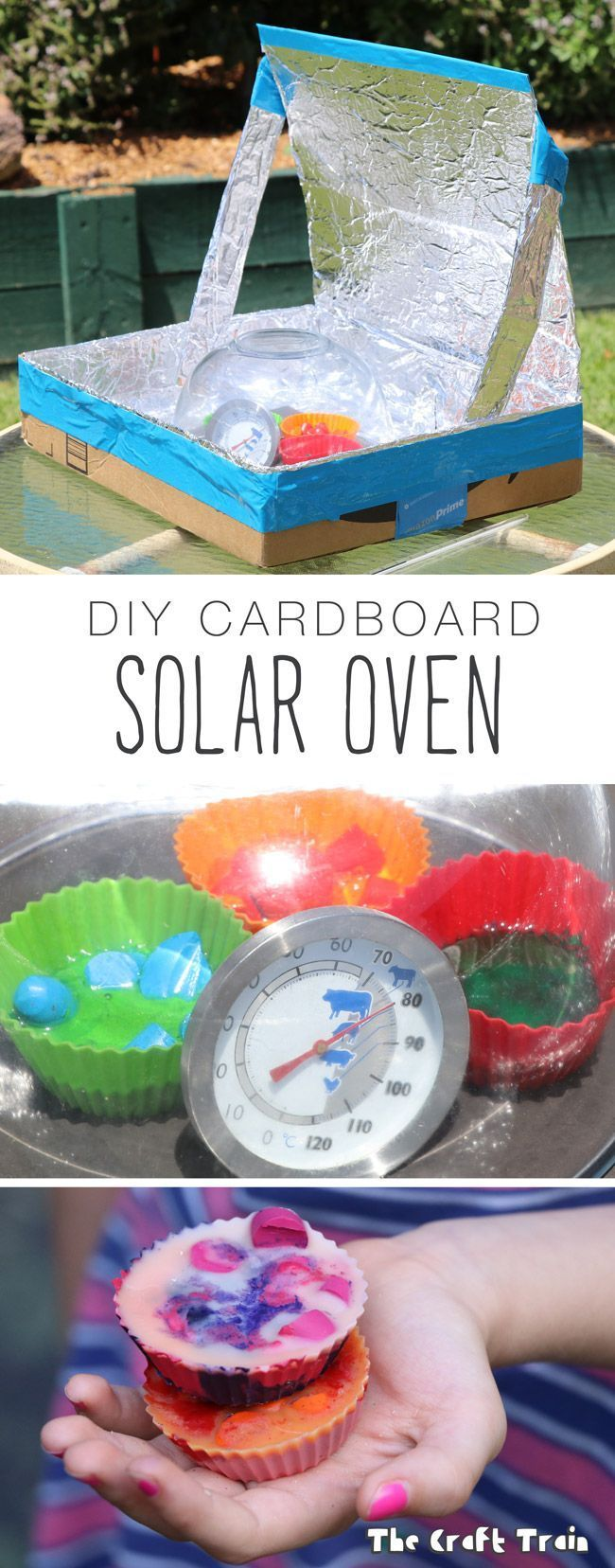 Your kids can make this DIY solar oven from a repurposed cardboard box. Great way to learn about solar energy!