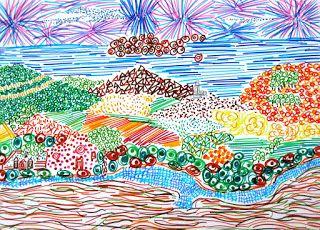 immagin@rti: PUNTO SEGNO LINEA, landscape with textures