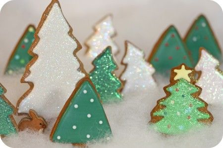 Cute Christmas cookie ideas.: Cookies Ideas, Forests, Xmas Trees, Christmas Cookies, Christmas Tree Cookies, Cookies Decor, Decor Cookies, Christmas Ideas, Christmas Trees Cookies