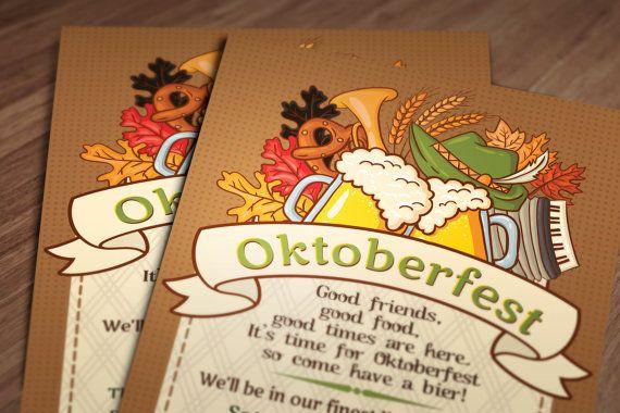 Oktoberfest Invitation Printable file by ChelsiLeeDesigns on Etsy, $12.00