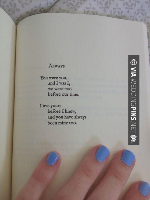 Poem By Lang Leav For Wedding Program Or Reception Sign