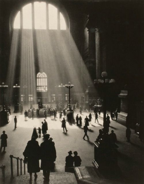 © Dr. S. J. Ruzicka, ca. 1929, Kodak's Amateur Photographers: New York    Shot on a Kodak Icarette camera using Kodak film in 1929, this photograph - showing the inside of the original Pennsylvania Station in New York - won a $250 prize. It was included in the enlargements category. #blackandwhite #ruzicka