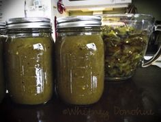 Enchilada Sauce. I've been wondering what to do with all my Anaheim peppers from Bountiful Baskets. Yummy! =)