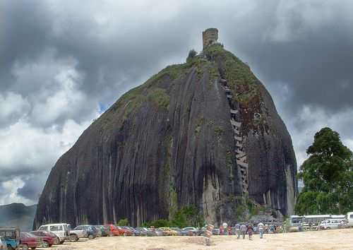 Piedra de Penol - Colombia .. imagine climbing up those stairs (yes, those are stairs)