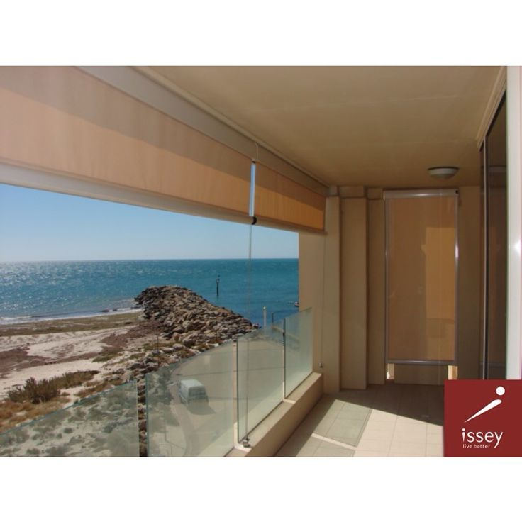 Issey's retractable awnings maintain your view while protecting you from the sun.