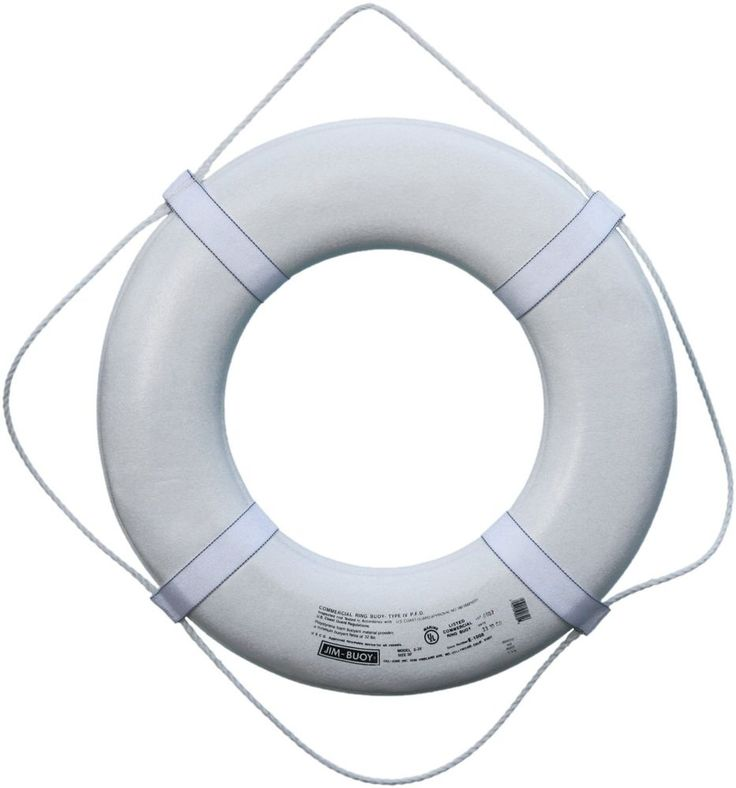 Ring Buoy White USCG Approved Life Ring Watercraft Boat Safety Equipment Plastic #CalJune
