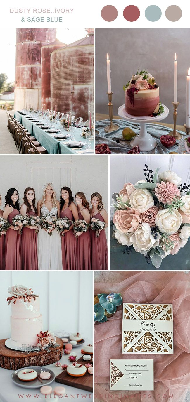 Over the top wedding decorations february 2019 Trending  Gorgeous Dusty Rose Wedding Colors for brides to Try in
