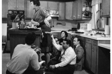 Under Julia Child's kitchen counter