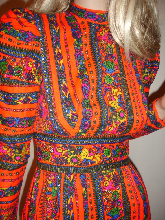 Vintage 1960's Neon PsYcHeDeLiC Paisley by ElectricLadyland1 #floral