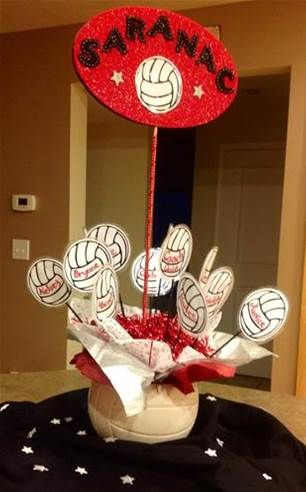 Image result for Volleyball centerpiece