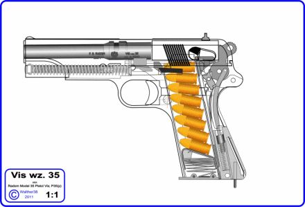 VIS wz 35 (Radom 9 mm / P 35p) polish army pistol in action  #pistol #army #polish