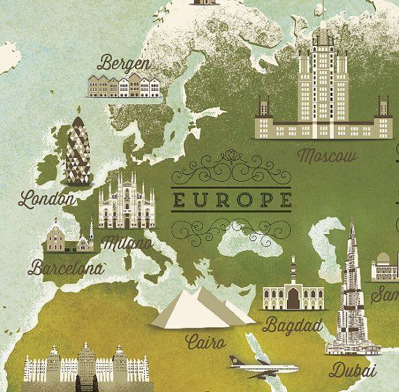 Carte du monde par Cartographik