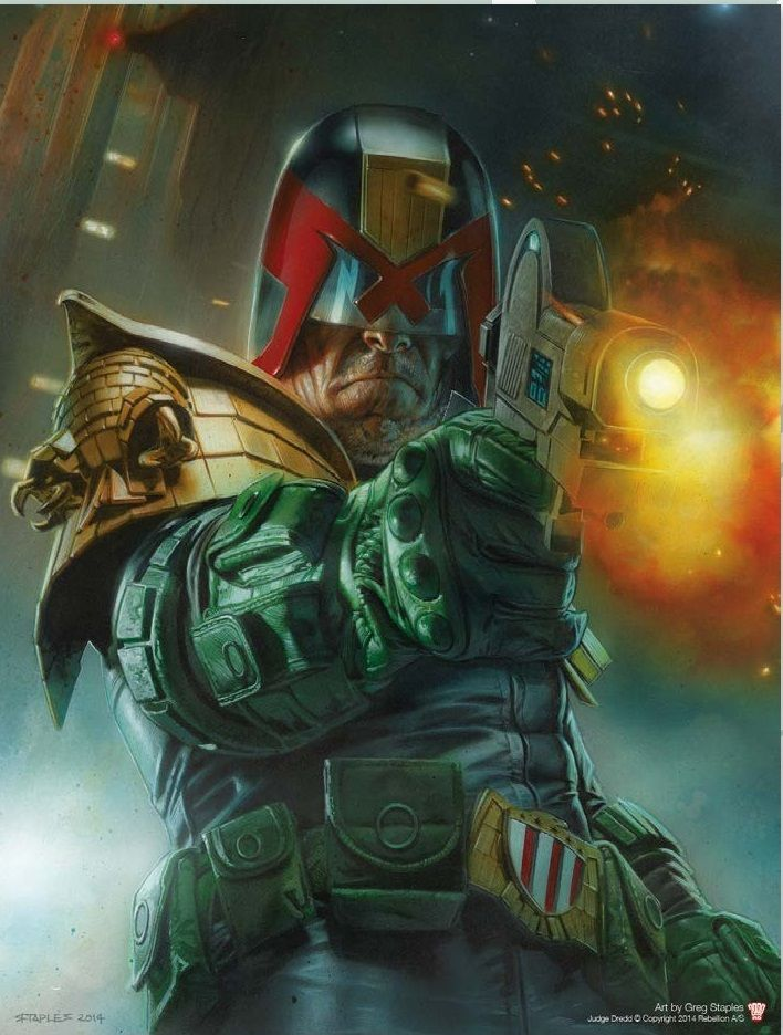 Judge Dredd Pin-up - Greg Staples Available only to annual subscribers of 2000AD or the Judge Dredd Megazine, is this stunning poster, made ...