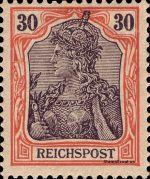 30 Pfennig - Michel Nr. 59 - Stamp Values: * 27€ / Ø 2.50€