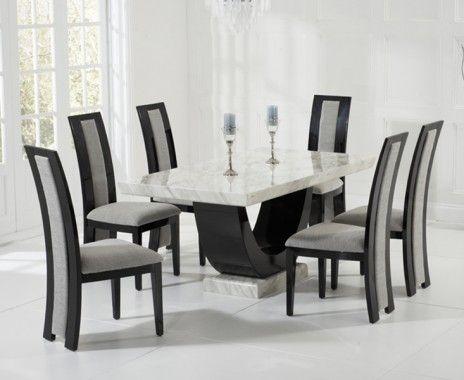 Marble dining tables hakkında Pinterest\'teki en iyi 20+ fikir ...